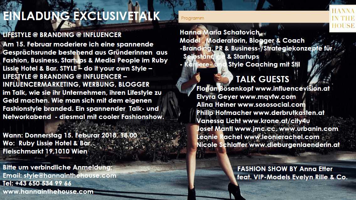 EXCLUSIVETALK EVENT – 15. Februar 2018
